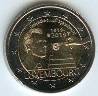 Luxembourg 2 Euro 2019 100 Ans Du Suffrage Universel Droit De Vote UNC - Luxembourg