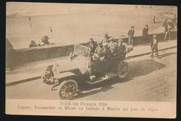 TOUR DE FRANCE 1910 - LAPIZE , TROUSSELIER ET BLAISE EN BALLADE A BIARITZ UN JOUR DE REPOS - Cyclisme