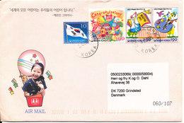 Korea South Cover Sent To Denmark 5-6-2004 (SOS Kinderdorf Korea) Nice Cover With Cachet - Corée Du Sud