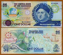 Bahamas, 1 Dollar, 1992, Pick 50, Columbus, UNC > Commemorative - Bahama's