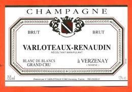 étiquette De Champagne Brut Varloteaux Renaudin à Verzenay - 75 Cl - Champan
