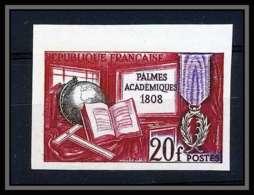 France N°1190 Palmes Académiques Non Dentelé ** MNH (Imperforate) - Non Dentellati