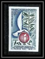 France N°1292 Anciens Combattants Militaria Non Dentelé ** MNH (Imperforate) - Frankreich