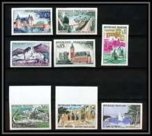 France N°1311/1318 Série Touristique 1961 Non Dentelé ** MNH (Imperforate) - Frankreich