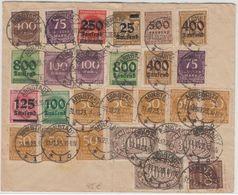 DR-Infla - 2x75 Tsd. Ziffer U.a. Bunt-/Massenfrankatur Brief Arnstadt 31.10.23 - Deutschland