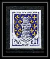 France N°1351A Armoirie De Villes Niort Non Dentelé ** MNH (Imperforate) - Imperforates