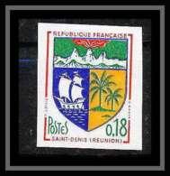 France N°1354A Armoirie De Ville Saint-Denis De La Réunion Non Dentelé ** MNH (Imperforate) - Imperforates