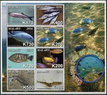 Malawi 2016. Endemic Fish Of Malawi (MNH OG) Miniature Sheet - Malawi (1964-...)