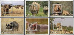 Malawi 2018. Malawi Wildlife (MNH OG) Set Of 6 S/S - Malawi (1964-...)