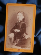 Photo CDV Romanowski à Montpellier - Jeune Fille Cheveux Lachés, Circa 1880 L481A - Photos