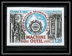 France N°1842 Exposition Mondiale De La Machine-outil Paris 1975 Non Dentelé ** MNH (Imperforate) - Imperforates