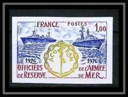France N°1874 Officiers Armée De Mer Acoram Marine Bateaux Ship Maritime Non Dentelé ** MNH (Imperforate) - Imperforates