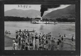 AK 0384  Badeleben An Der Donau Mit Donaudampfer ( Wachau ) - Verlag Ledermann Um 1942 - Paquebots