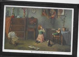 AK 0384  Wie Beten Für Den Vater - Künstlerkarte Um 1910-20 - Szenen & Landschaften