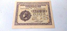 1000 Pesetas ( MIL PESETAS)-EL BANCO ESCOLAR BONANOVA - [ 3] 1936-1975: Franco