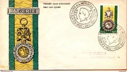 """Algérie/France; FDC 1952 """" Centenaire De La Médaille Militaire """" Alger - Algeria (1924-1962)"""