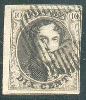 N°6 - Médaillon 10 Centimes Brun, Marges Maxima Et Voisin, Obl. D.2 AMAY  - 14852 - 1851-1857 Médaillons (6/8)