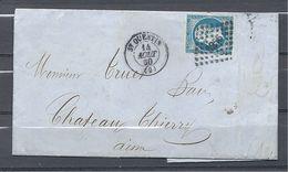Napoléon III De St Quentin à Château - Thierry - Marcophilie (Lettres)