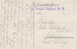 CP Du 1.06.15 Avec Cachet 1. Rekruten-Depot / Bad. Fussartl Regiment No 14 Adressée à Singen - Storia Postale