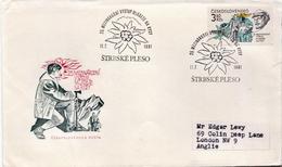 Czechoslovakia Stamp On Used FDC - Holidays & Tourism