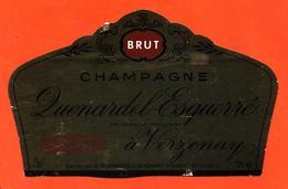 étiquette De Champagne Brut Quenardel Esquerré à Verzenay - 75 Cl - Champan