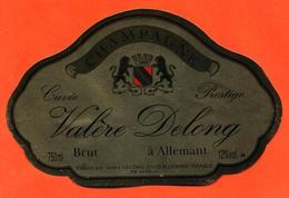 étiquette De Champagne Brut Valère Delong à Mareuil Sur Allemant - 75 Cl - Champan