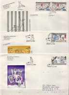 Czechoslovakia Set On 3 Used FDCs - Art