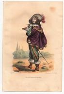 Gravure 19ème Réhaussée De Larochefoucault Larochefoucauld écrivain Moraliste Dessinée Par Boilly Gravée Par Boilly - Prints & Engravings