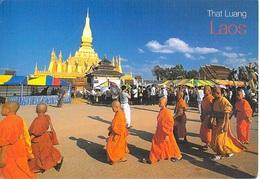 "Asie > LAOS VIENTIANE Pha That Luang  (  Timbre Stamp LAOS "" Marigold / Bubble Eye Goldfish "" "" ) - Laos"