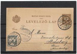 LCTN59/ALS/PM - HONGRIE CARTE POSTALE ILLUSTREE BUDAPEST / STRASBOURG MARS 1900 - Hongrie