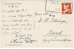 """1932, Aushilfs-Stp. """" Eigental"""" , Bedarf ,  A2854 - Poststempel"""