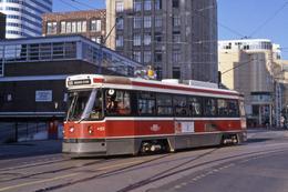 Toronto (Canada)  Tramway -  Août 1994 - Ligne 505 Dundas Rame CLRV N°4152 En Direction De Broadview Station - Tramways