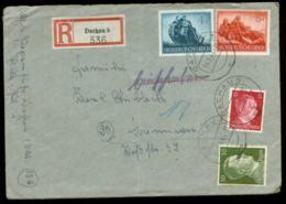 P0847 - DR Wehrmacht II Auf R - Briefumschlag : Gebraucht Dachau - Hannover 1944 , Bedarfserhaltung , Gefaltet , Brief - Germany