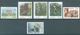 ALAND - 1989 - MNH/*** LUXE - YEAR COMPLETE FLOWERS - Yv 32-37 - Lot 20773 - Aland