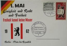 Kalter Krieg, 1. Mai, Einigkeit Recht Freiheit, Berlin 1962 (33141) - History