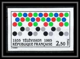 France N°2353 Anniversaire De La Télévision TV 1985 Non Dentelé ** MNH (Imperforate) - Imperforates