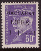 -France Libération Baccarat   1** Type I - Liberazione