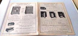 COFFRES FORTS-PUBLICITE ISSUE D'UN VIEUX CATALOGUE-ETS BERNABE FRES-ALGER-1912 - Publicités