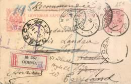 RUSSIE - Ukraine - Crimée - Carte Entier Postal Recommandé D'Odessa Vers L'Angleterre -- Dans L'état - Rusland