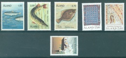 ALAND - 1990 - MNH/*** LUXE - YEAR COMPLETE FISHES - Yv 38-43 - Lot 20774 - Aland