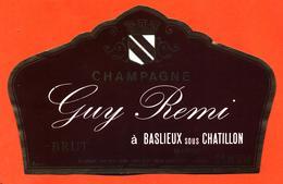 étiquette De Champagne Brut Guy Remi à Baslieux Sous Chatillon - 37,5 Cl - Champan