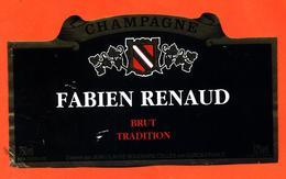 étiquette De Champagne Brut Fabien Renaud - Jean Claude Bouchard à Celles Sur Ource - 75 Cl - Champan