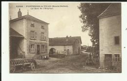 70 - Haute Saone - Fontenois La Ville - Rue De L'Hopital - Fermes - Matériels - - Frankreich