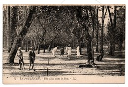 JEUX Et JOUETS  -  Jeu De Croquet  -  44  LE POULIGUEN  - Une Allée Dans Le Bois - Jeux Et Jouets
