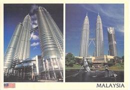 Asie > MALAISIE  Malaysia KUALA LUMPUR  Petronas Towers   (timbre Stamp MALAYSIA ) - Malaysia