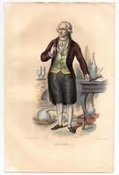 Gravure 19ème Réhaussée De Lavoisier Chimiste Philosophe Dessinée Par Boilly Gravée Par Delaistre - Prints & Engravings