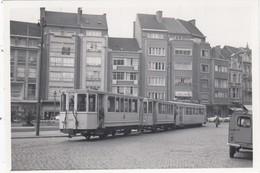 N.M.V.B. Tram Leuven Fochplein - Kleine Foto 8 X 5,5 Cm (geen Postkaart) - Leuven