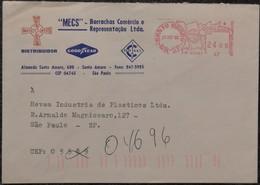 1982 Brasil Santo Amaro -  EMA Meter 24,00 - Used Stamp On Cover - Frankeervignetten (Frama)