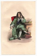 Gravure 19ème Réhaussée De Boileau Poête écrivain Dessinée Par Boilly Gravée Par Boilly - Prints & Engravings