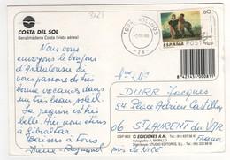 Beau Timbre , Stamp Yvert N° 3021 Sur Cp , Carte , Postcard Du 02/10/1996 - 1991-00 Lettres